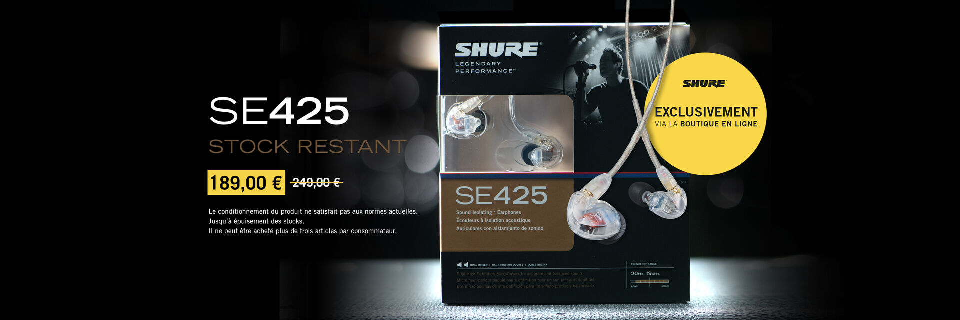 SE425 OP Shure-Shop Slide