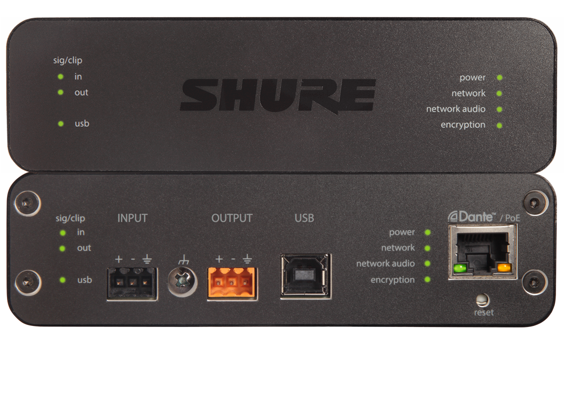 Shure Infocomm 2017 Component And Major Connector Location Diagram 124kb Aniusb Matrix Audio Network Interface With Mixing