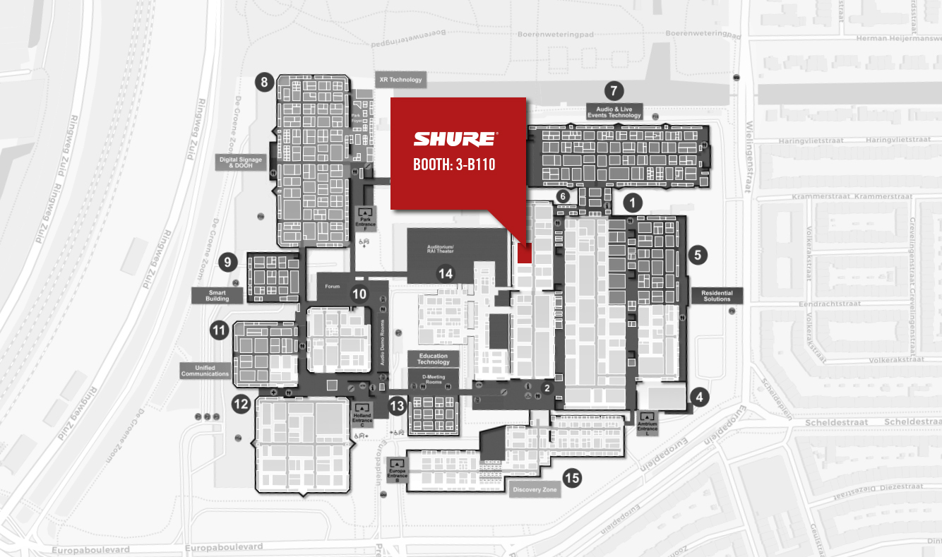 Shure Europe GmbH @ ISE 2018 Floor Plan