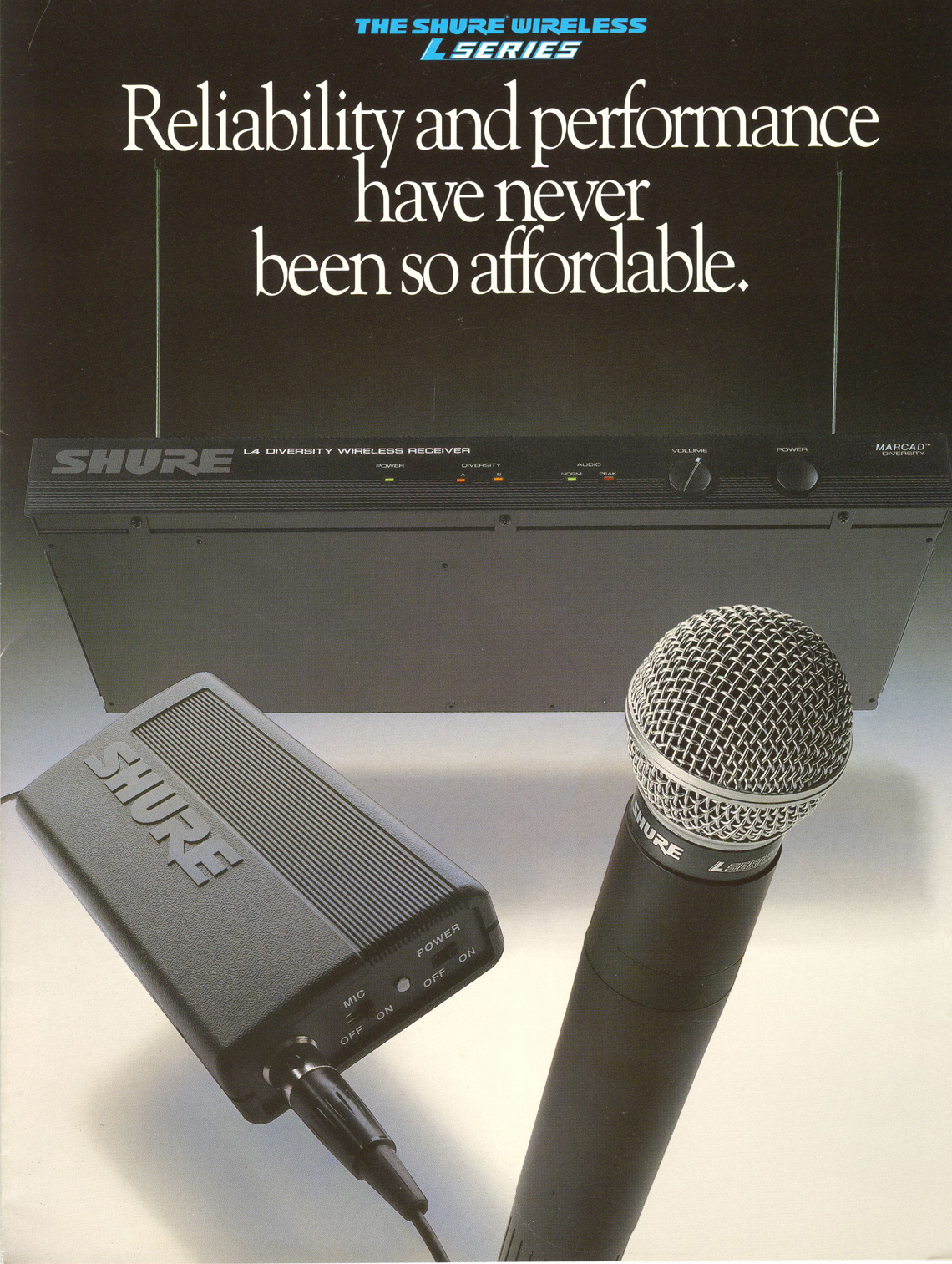Shure L Series Wireless System - Classic Advertisement