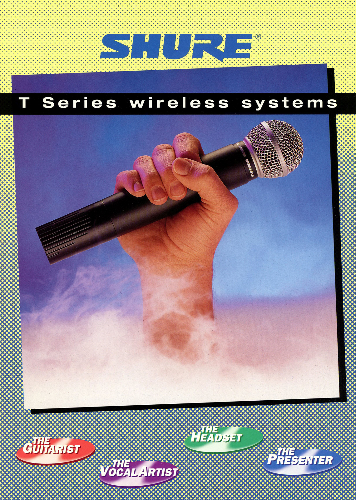 Shure T Series Wireless System - Classic Advertisement
