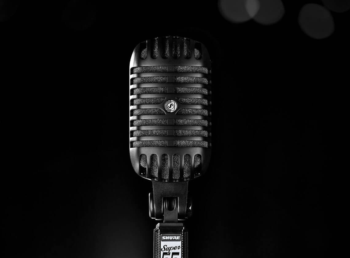 shure releases super 55 blk deluxe vocal microphone pitch black edition