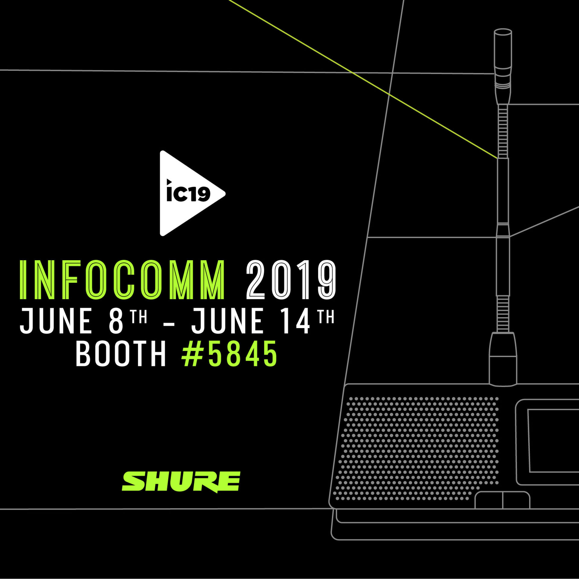 Infocomm 2019: Find Shure at Booth 5845